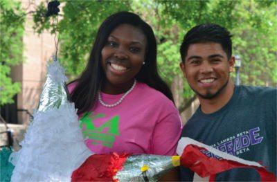 Racially diverse students at Wichita State University