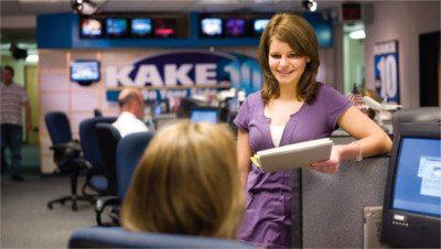 WSU Intern at a TV station