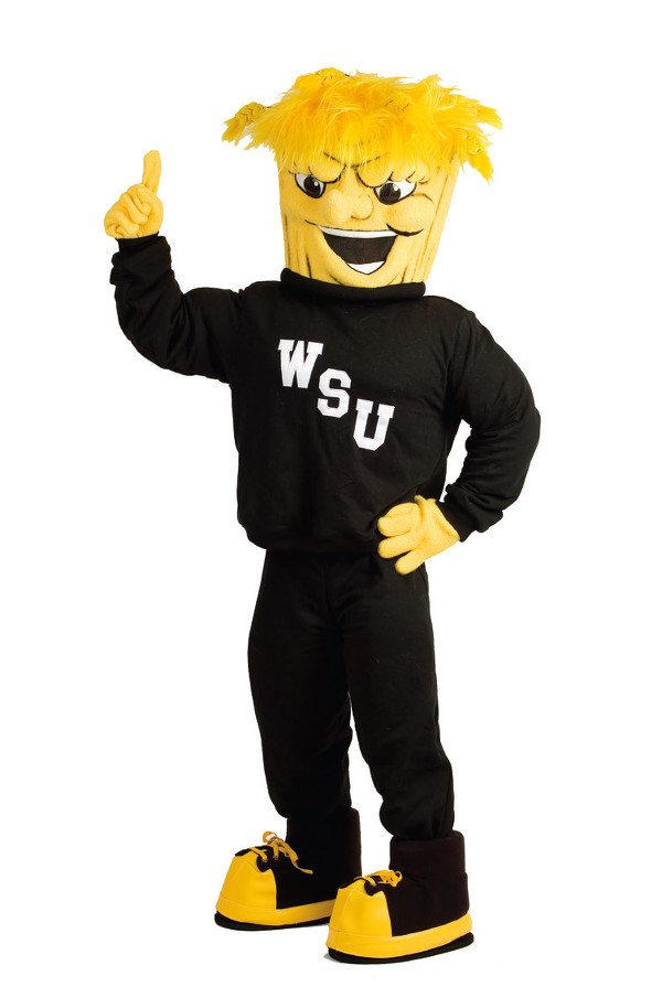 WuShock, the WSU mascot