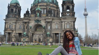 student studying abroad in Berlin, Germany