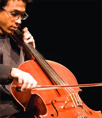 WSU student playing the cello