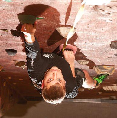 Wichita student rock climbing