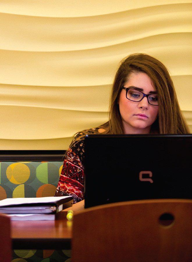 Wichita State student studying