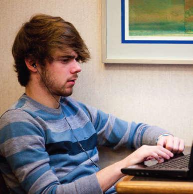 Wichita student studying