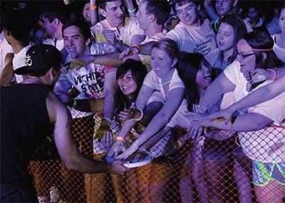 students at a concert