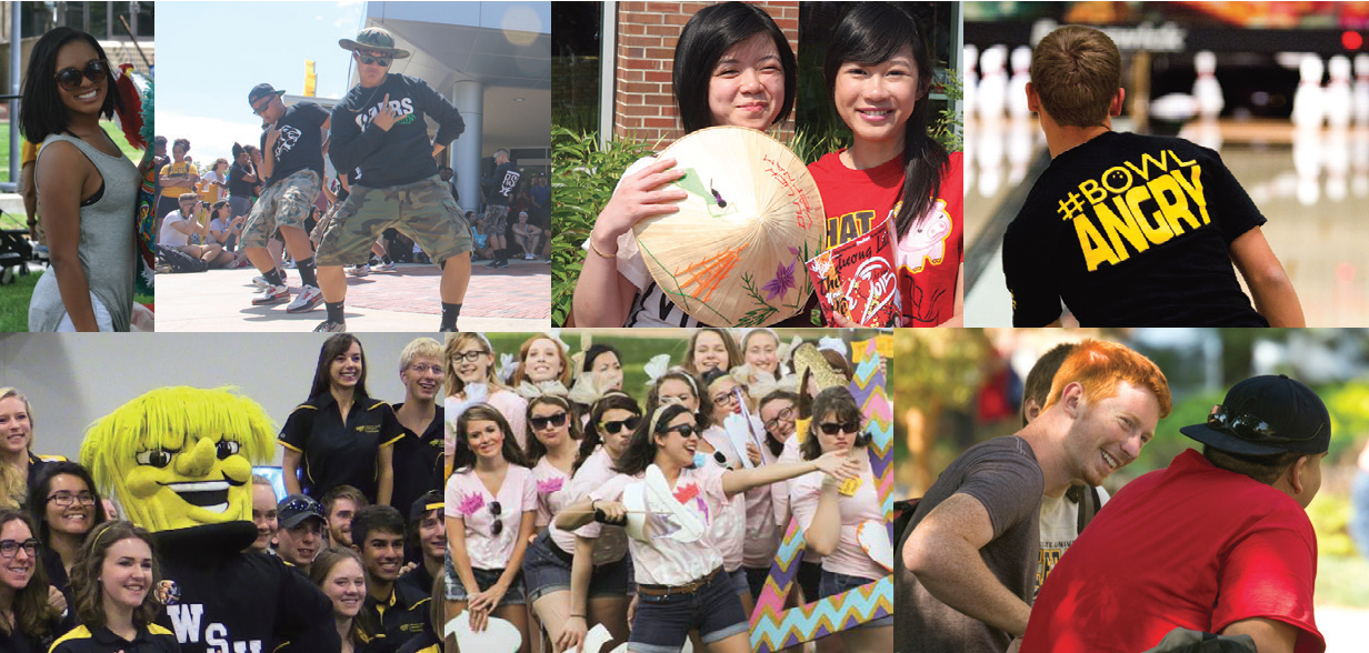 Collage of campus tradition activities