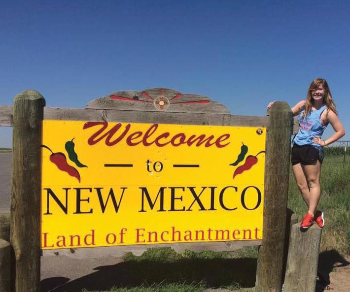 Laura Brockway in New Mexico