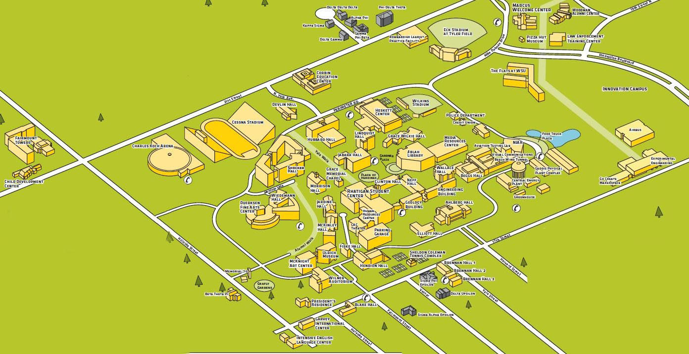 CAMPUS MAP Wichita State University Online Visitor Guide