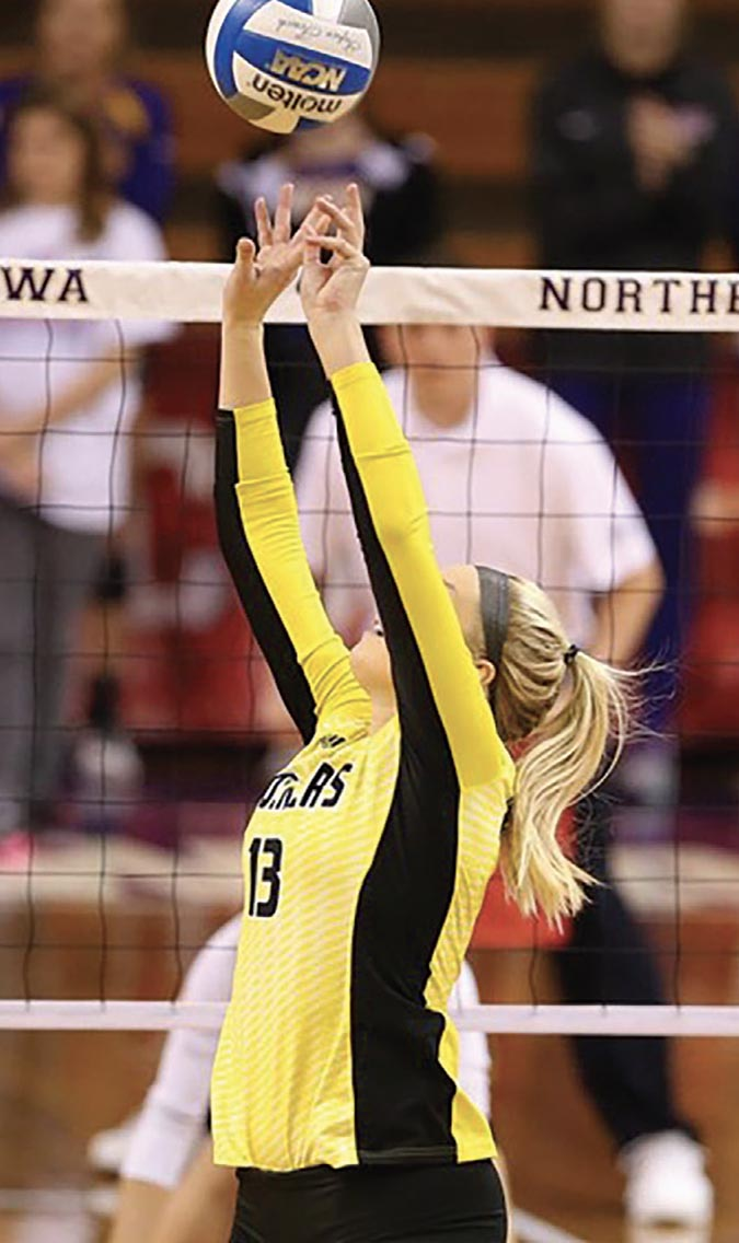 WSU Volleyball player
